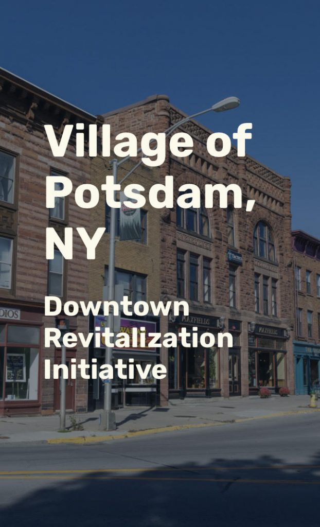Logo for the Village of Potsdam, NY Downtown Revitalization Initiative