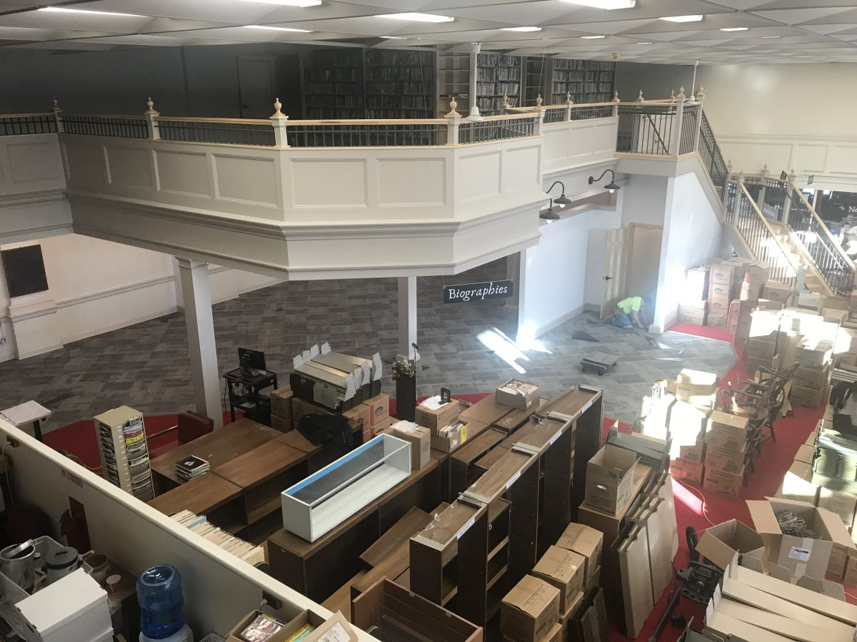 A Vew of the PPL Mezzanine and reading room from the balcony
